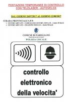 Postazioni temporanee di controllo con telelaser-autovelox