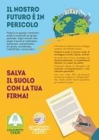 La petizione per salvare il suolo al mercato di Campagna Amica a Cuneo, domani mattina e negli uffici Coldiretti