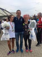 Valentina Gemetto all'incontro internazionale di corsa su strada a Rennes (Francia)