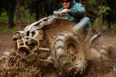 ATV Riding in Mud