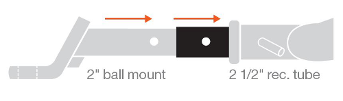 Hitch Adapter Dimensions Diagram