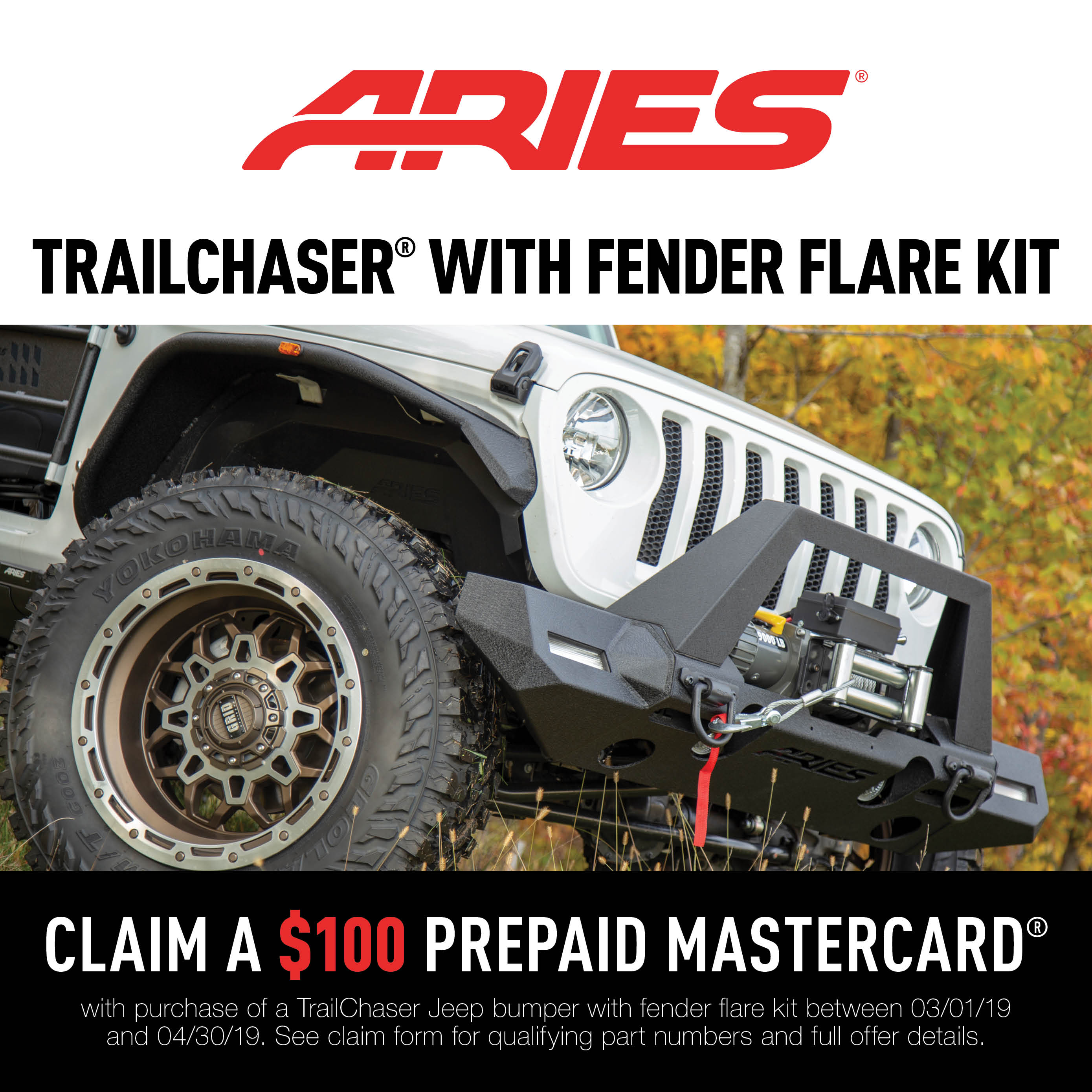 TrailChaser® Bumpers and Fender Flares Promotion 2019