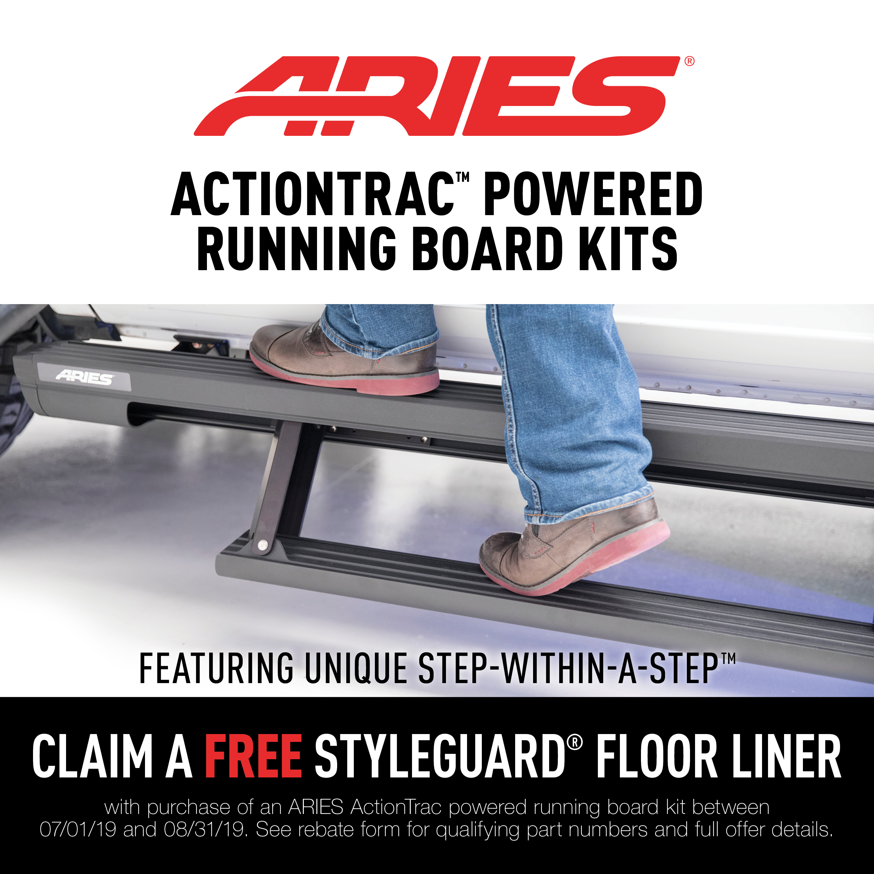 ActionTrac™ Powered Running Boards Promotion 2019