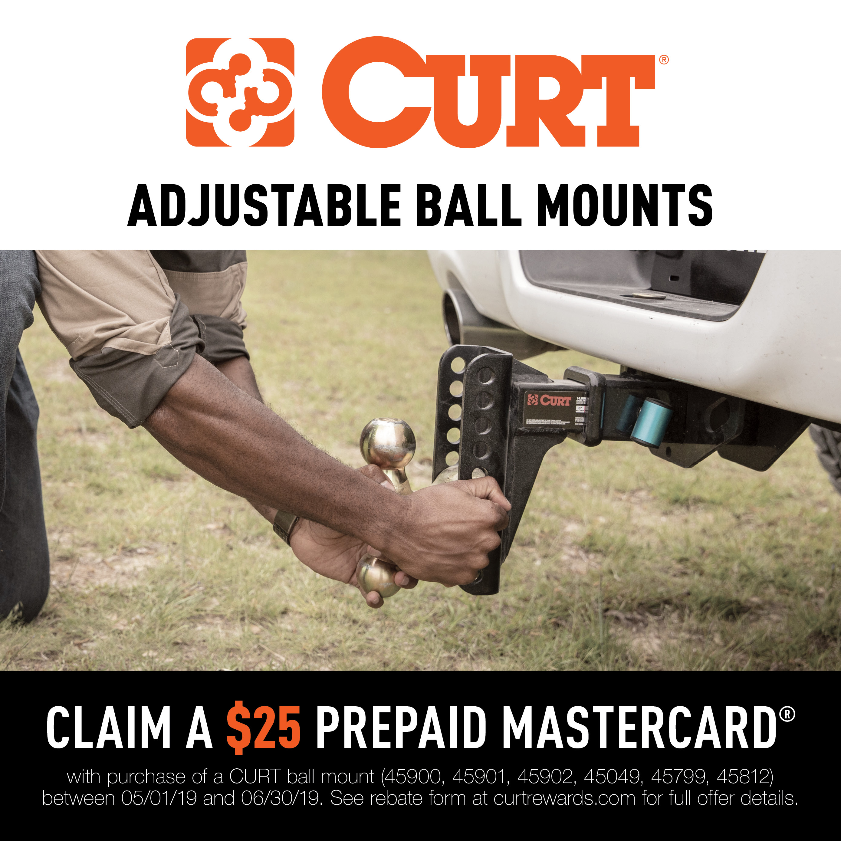 CURT Adjustable Trailer Hitch Ball Mounts Promotion 2019