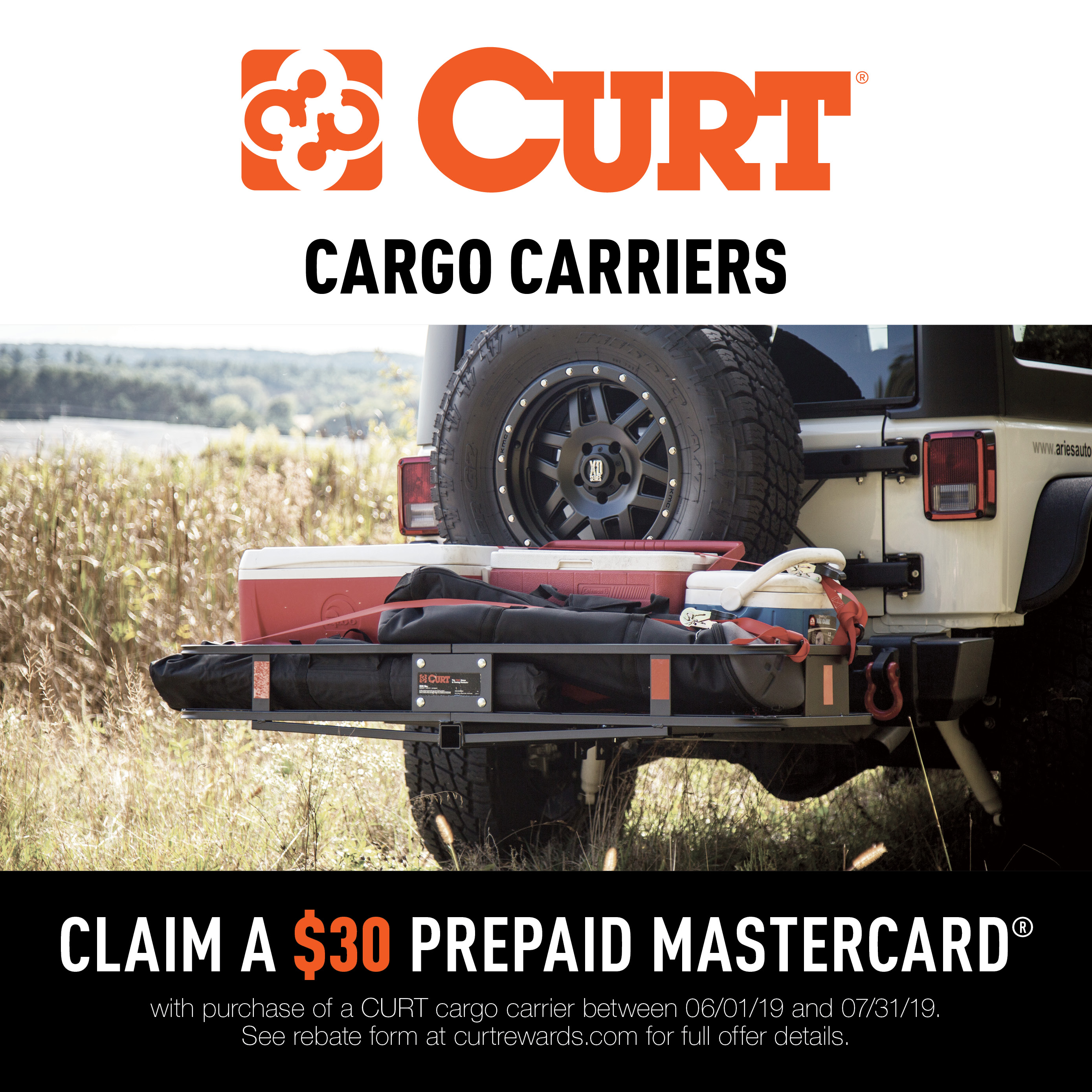 CURT Cargo Carriers Promotion 2019