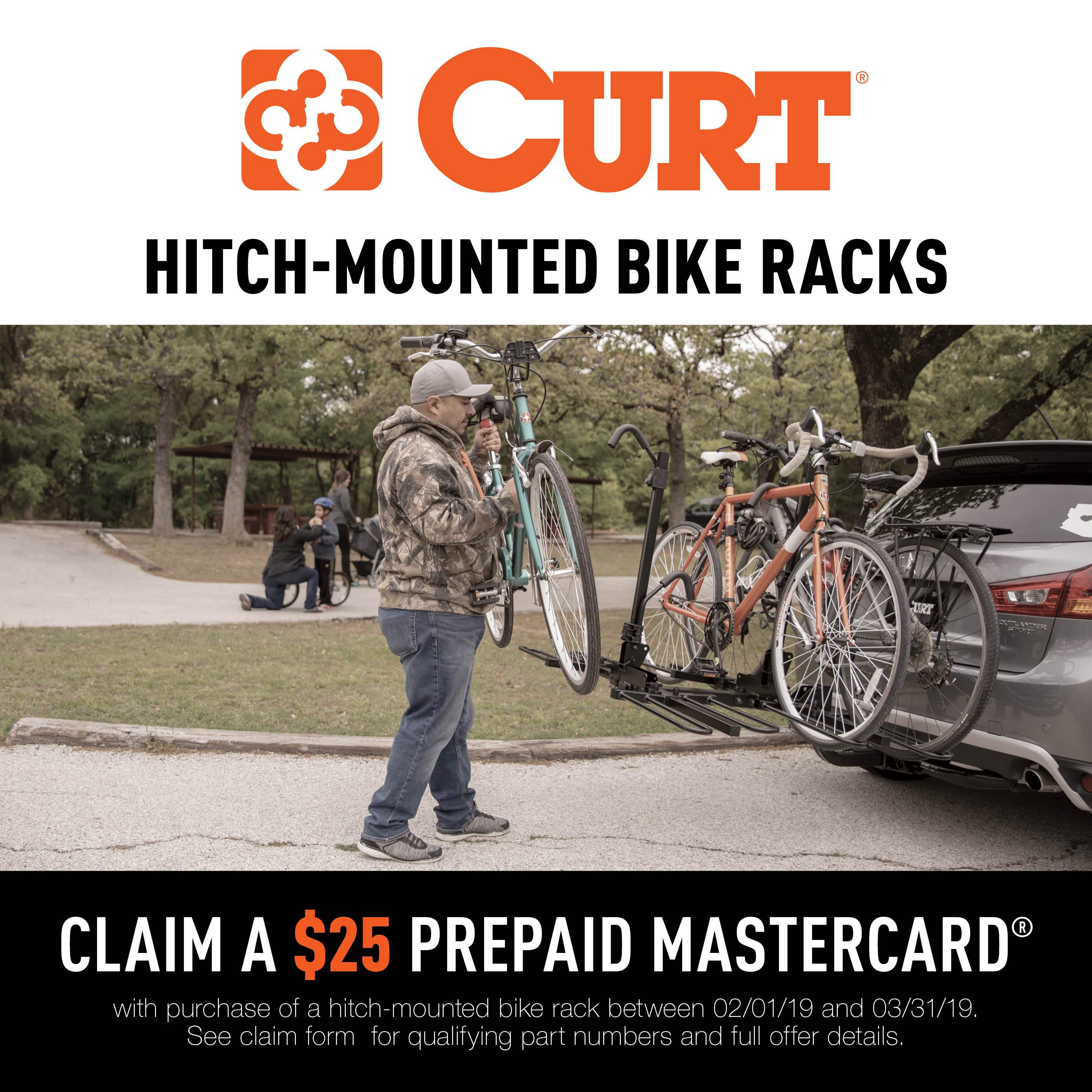 CURT Hitch-Mounted Bike Rack Promotion 2019