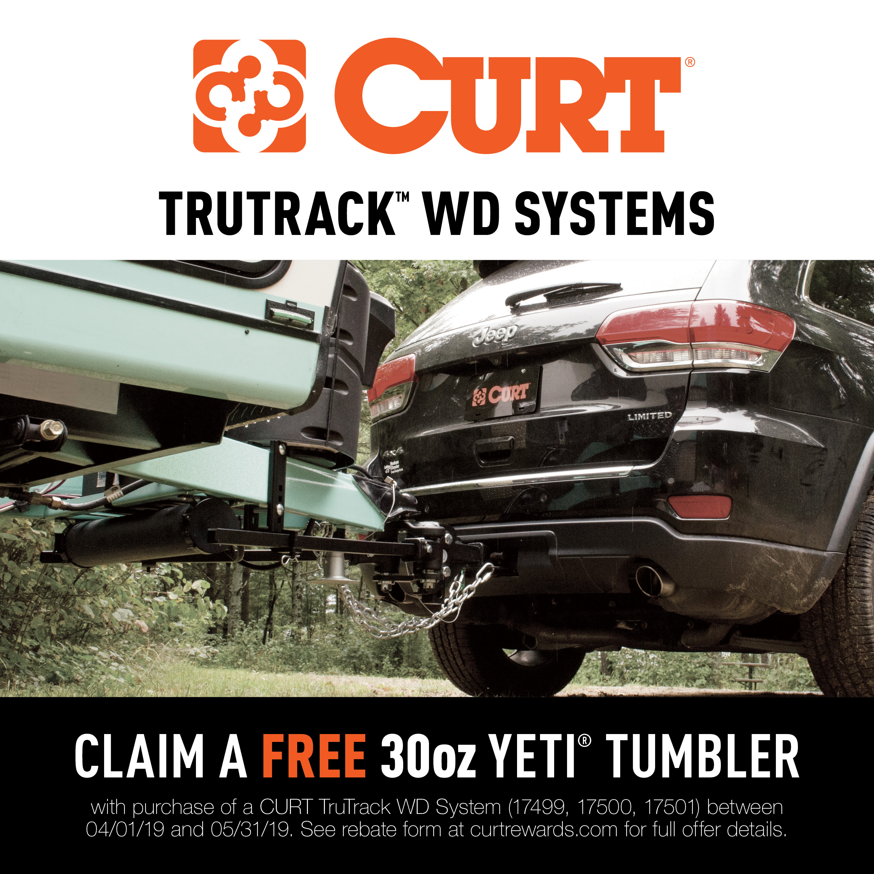 CURT TruTrack Weight Distribution Hitch Promotion 2019