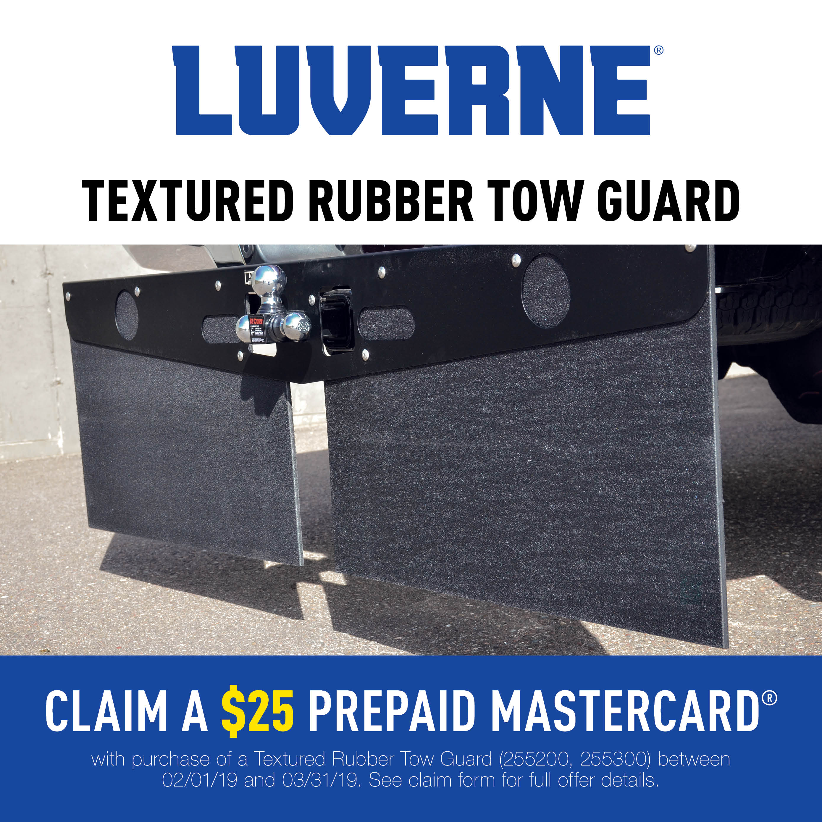 LUVERNE Textured Rubber Mud Guards Promotion 2019