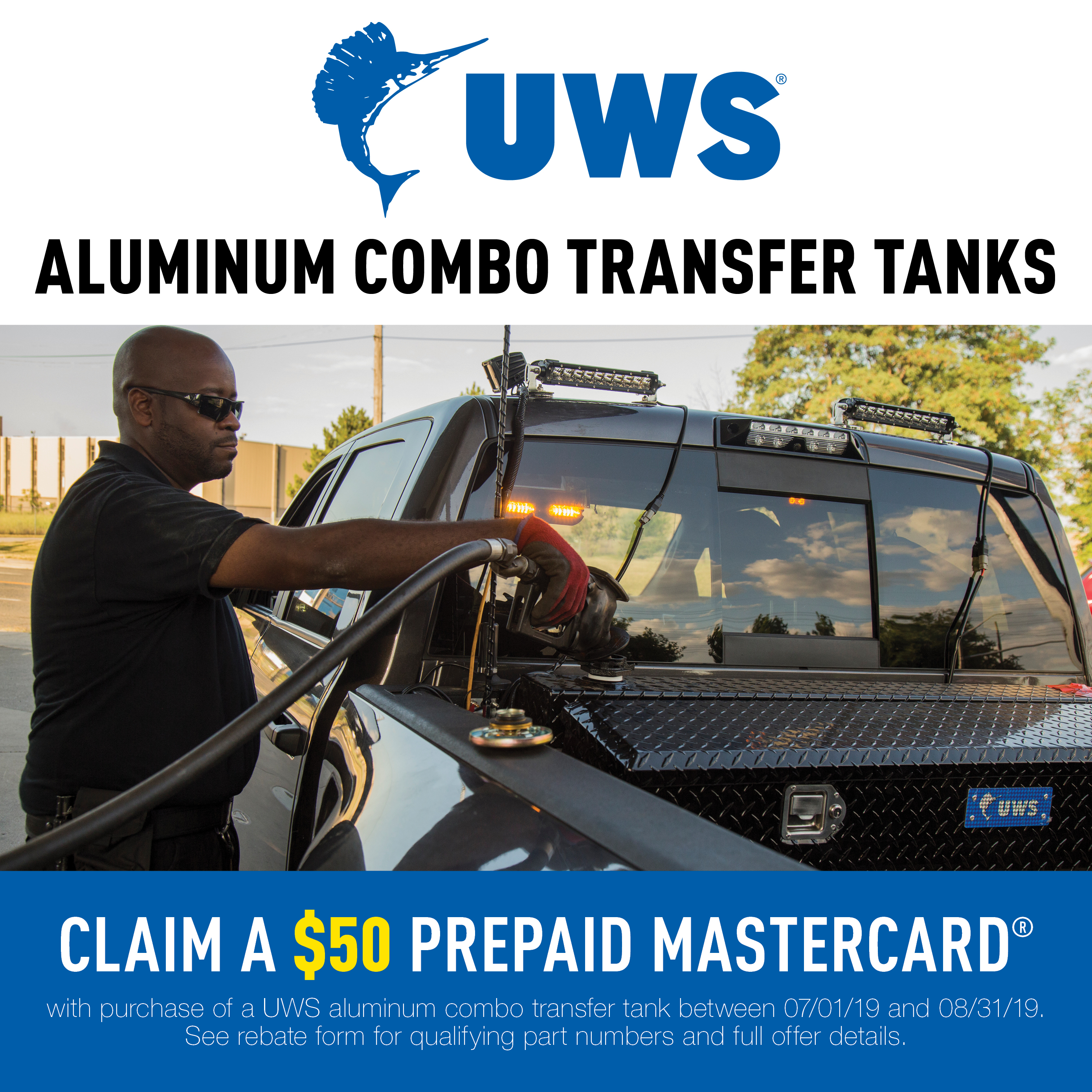 UWS Aluminum Combo Transfer Tanks Promotion 2019