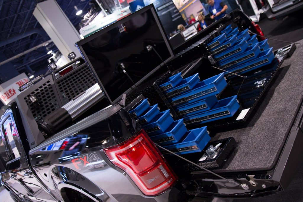 SEMA 2017 TEAM ARIES FORD F150 UWS TOOL BOX