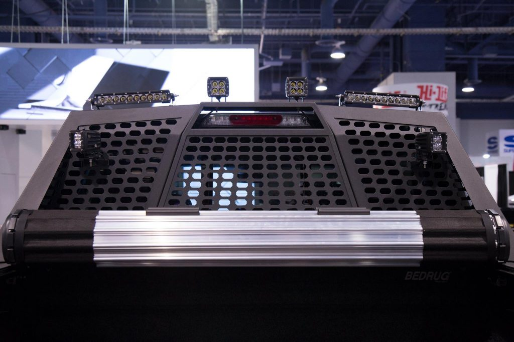 SEMA 2017 TEAM ARIES FORD F150 HEADACHE RACK WITH LED LIGHTS