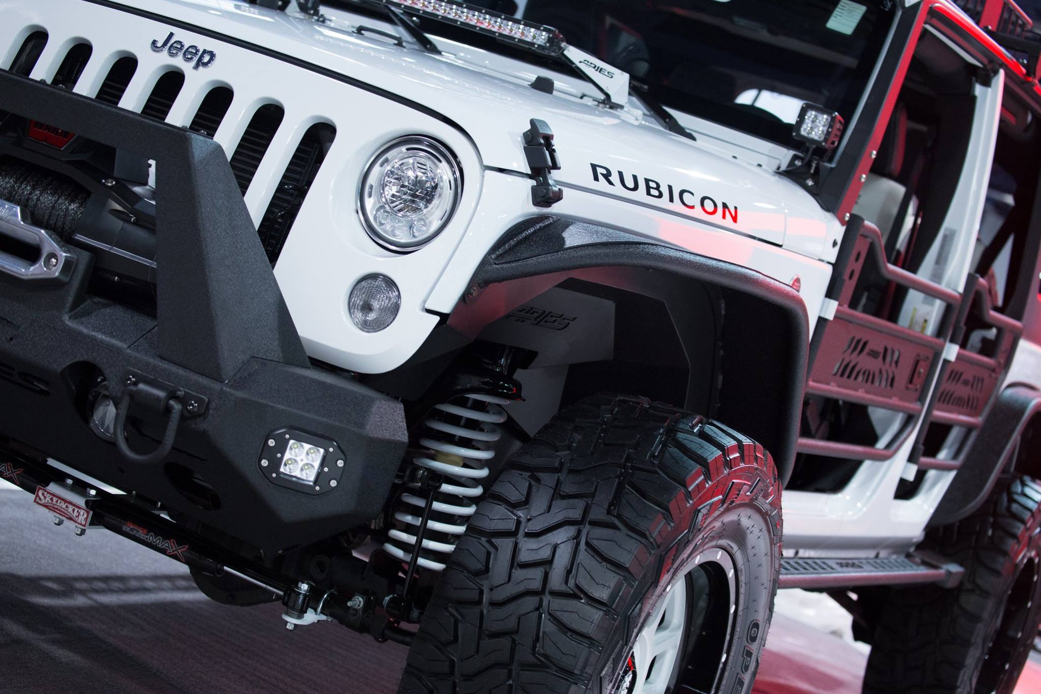 SEMA 2017 TEAM ARIES JEEP WRANGLER FENDER FLARES