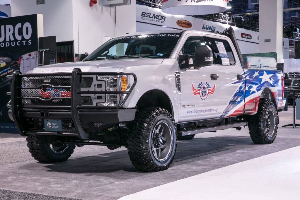 SEMA 2017 FORD SUPER DUTY CHRIS KYLE FROG FOUNDATION BUILT BY COMPLETE CUSTOMS