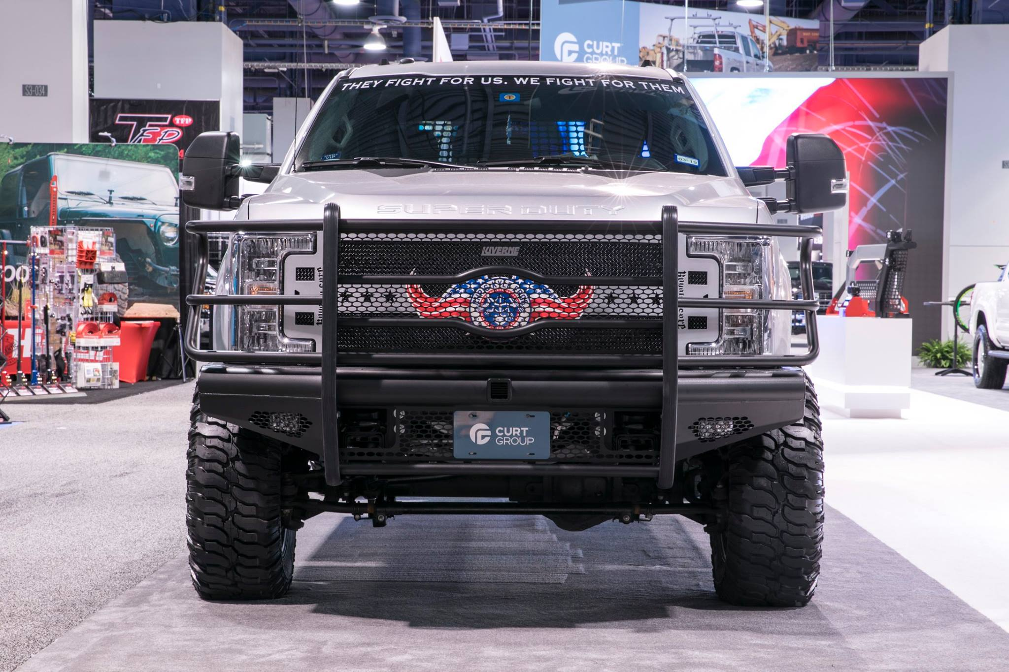 SEMA 2017 FORD SUPER DUTY CHRIS KYLE FROG FOUNDATION GRILLE GUARD