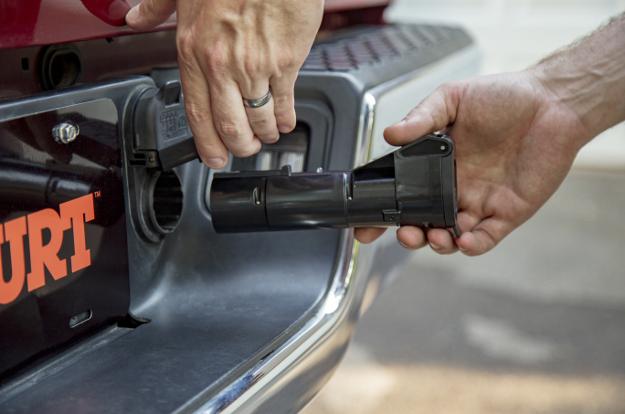 CURT brake controller Echo® mobile brake controller 7-way RV blade plug
