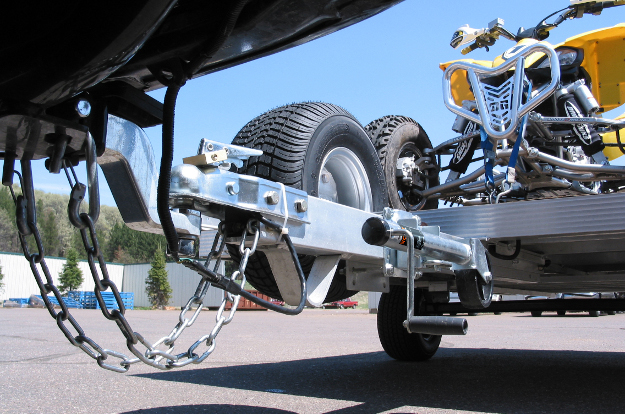 CURT trailer wiring on truck towing ATV trailer