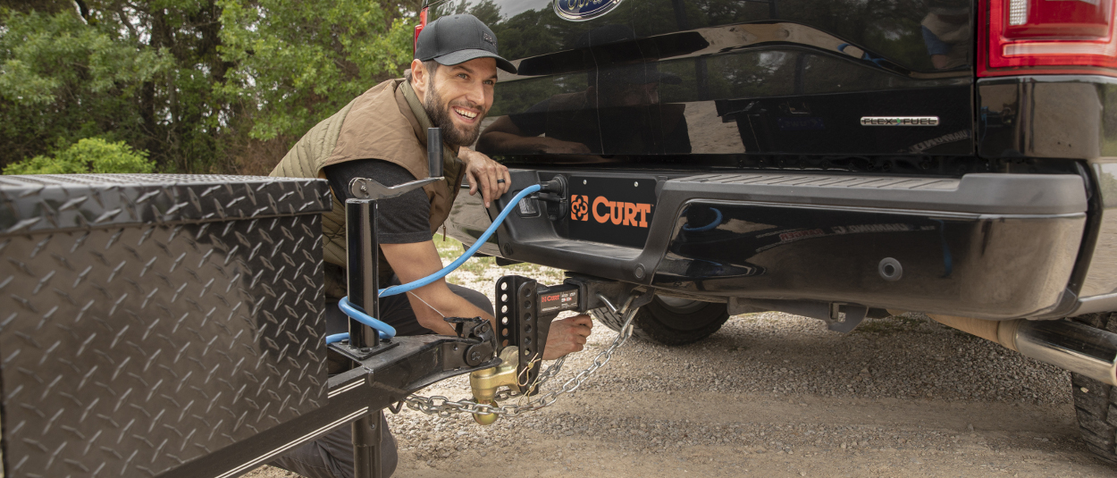 CURT towing accessories for trailer hitch setup
