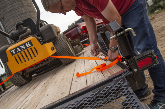 CURT cargo ratchet straps for trailer