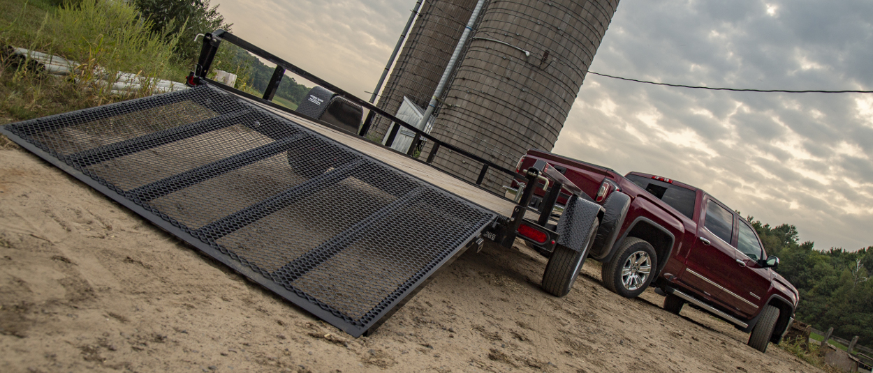 CURT trailer accessories on farm truck and trailer