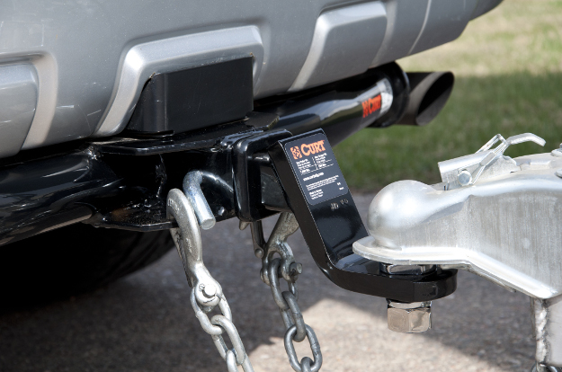 CURT trailer hitch with towing accessories