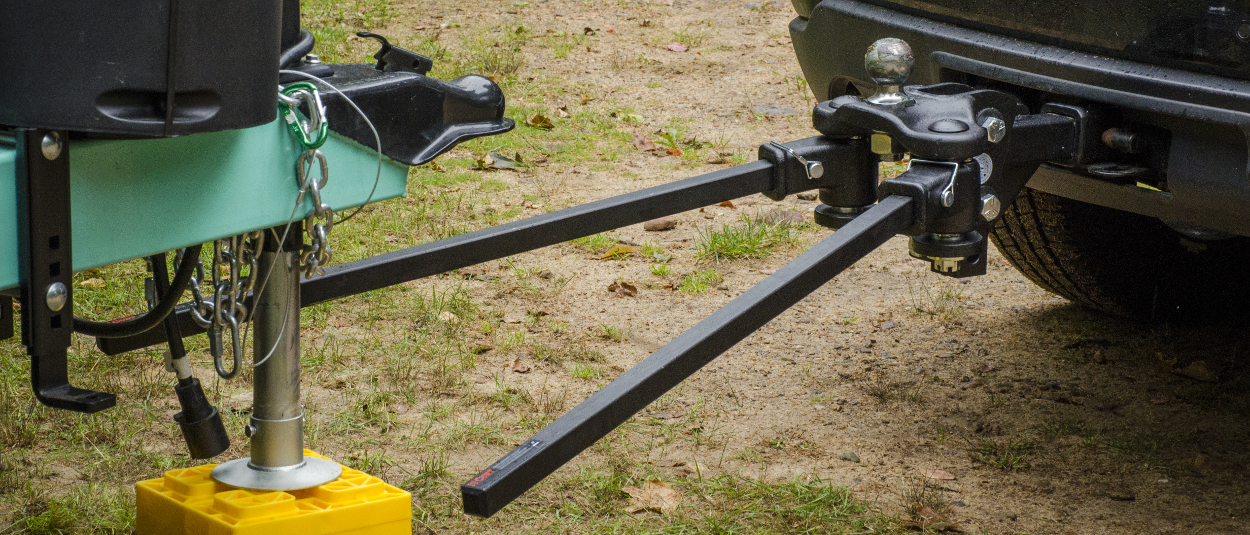 TruTrack™ weight distribution hitch with neutral spring bar settings