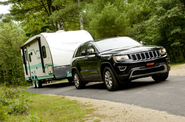 Jeep Towing Travel Trailer Camper