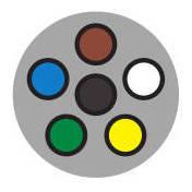 6-Way Round Trailer Plug