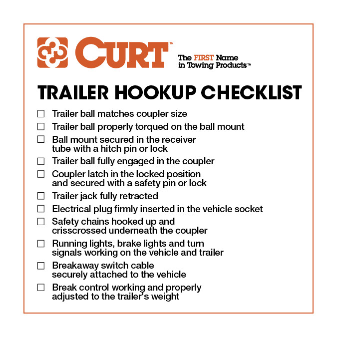 photo relating to Printable Rv Setup Checklist called How in the direction of Hook Up a Trailer: 10 Actions - Towing 101