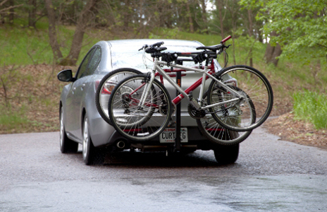 Car with class 1 hitch and bike rack