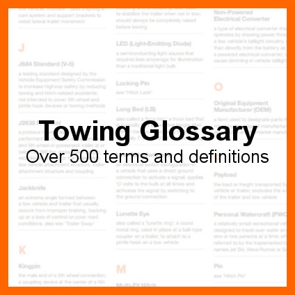 Towing Glossary - Over 500 Terms and Definitions