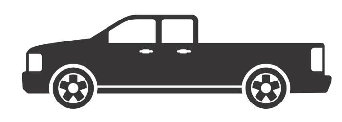 CURT Long-Bed Pickup Truck Diagram