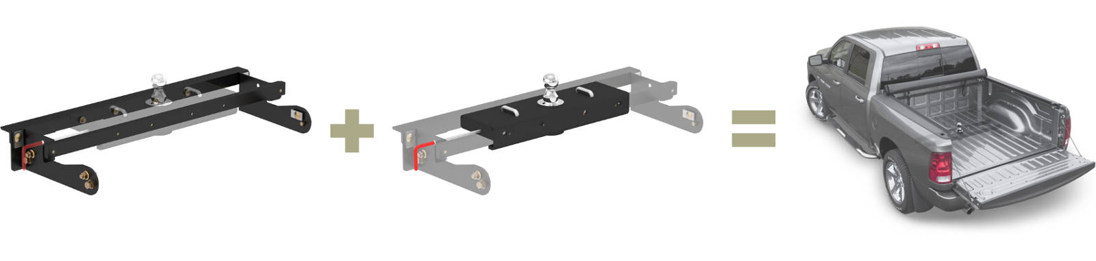 CURT Gooseneck Hitch and Brackets for Truck