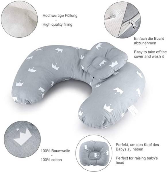 Cuscino Allattamento Per Neonato Luchild Con Poggiatesta 4