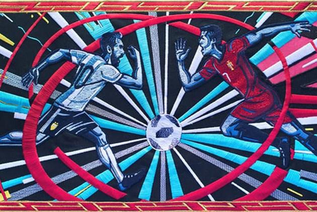 BBC世界盃短片:1分鐘動畫,650幅刺繡作品製作而成