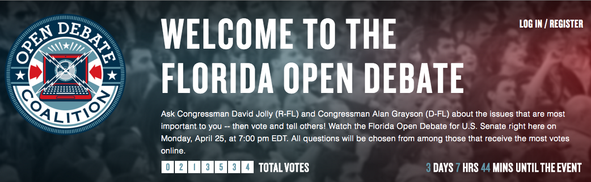 Florida Open Debate Site Powers First-Ever Crowd-Sourced Open Senate Debate