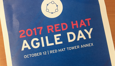 A flyer from the Red Hat Agile Day Event.
