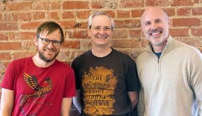 Three of our team member's, from left to right: Dane Summers, Dan Poirier, and Ian Huckabee.