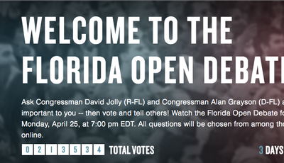 Florida Open Debate Platform Receives National Attention (The Atlantic, USA Today, Engadget)