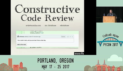 Erik Rose's talk on constructive code reviews.