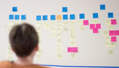 An example of user story mapping.