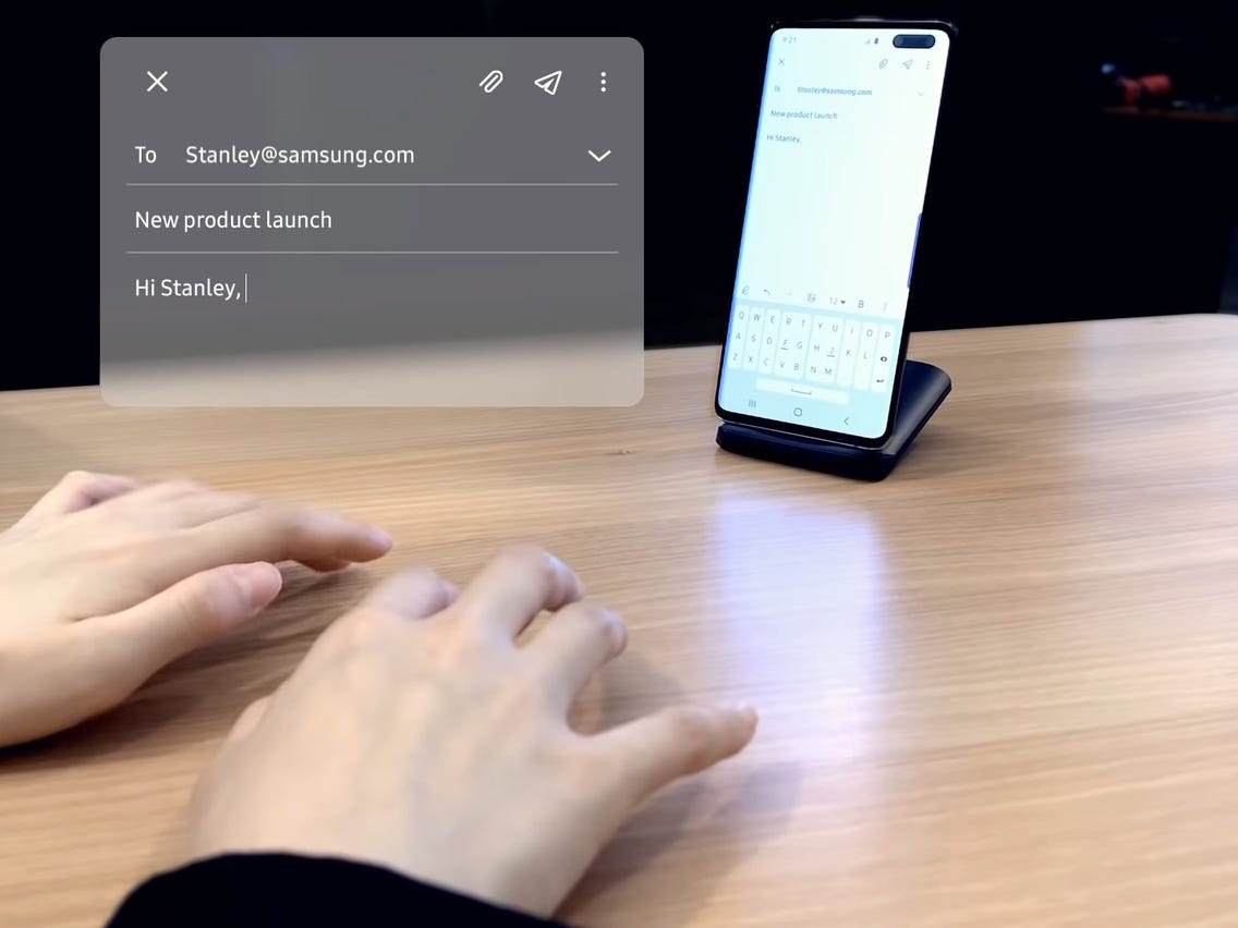 Samsung Working on SelfieType – a New Invisible Keyboard