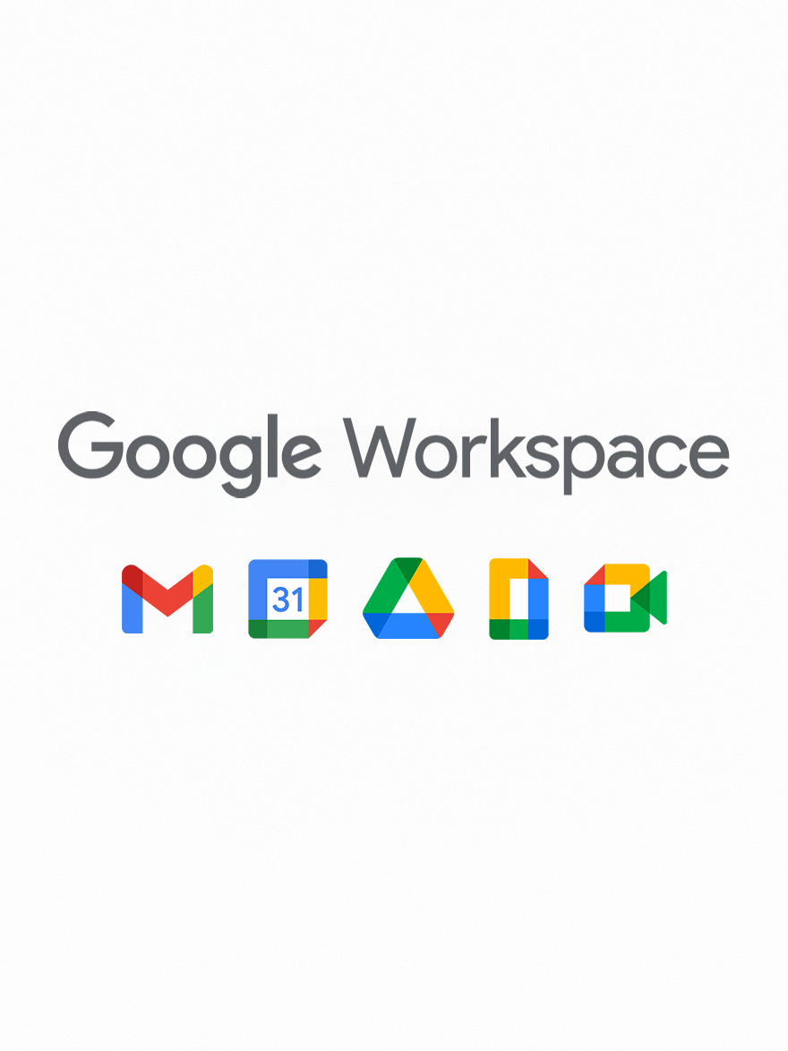 Google Workspace 2x3 with 5 up icons