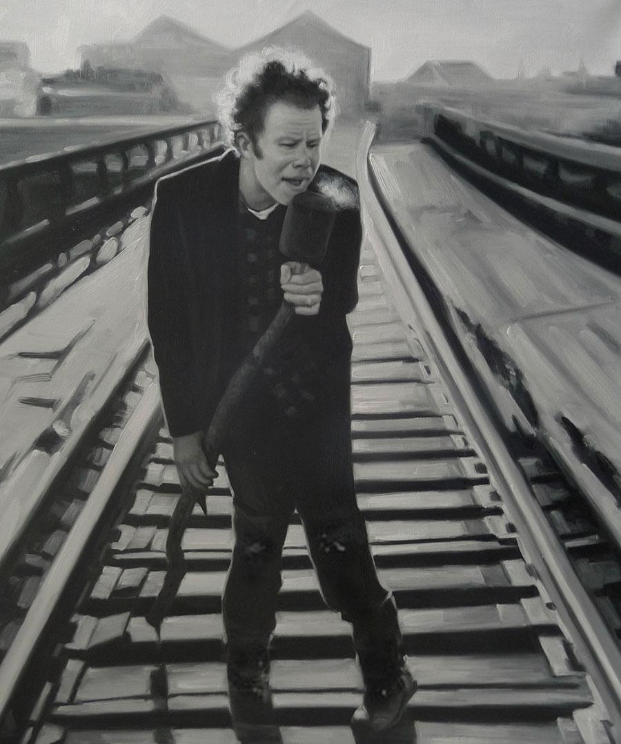 Tom Waits - Olieverf op Canvas - 50 x 60 cm