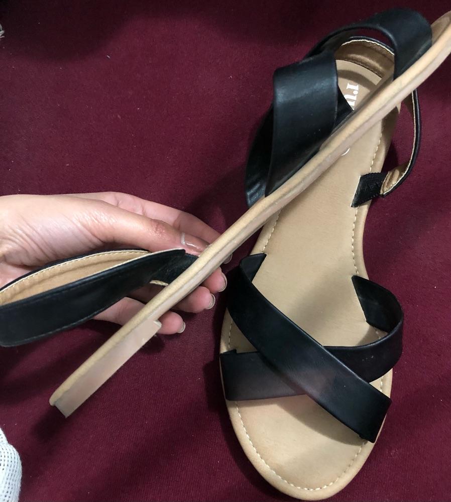 Sandales femme en noir