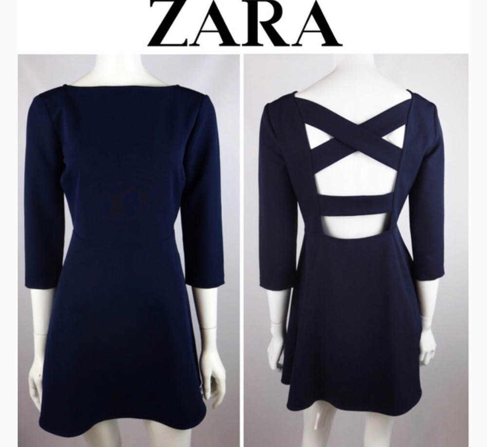 ZARA | CROSS BACK FIT AND FLARE DRESS