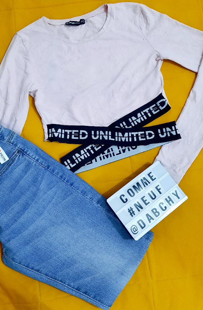 Pack robe pull and bear et crop top croisé