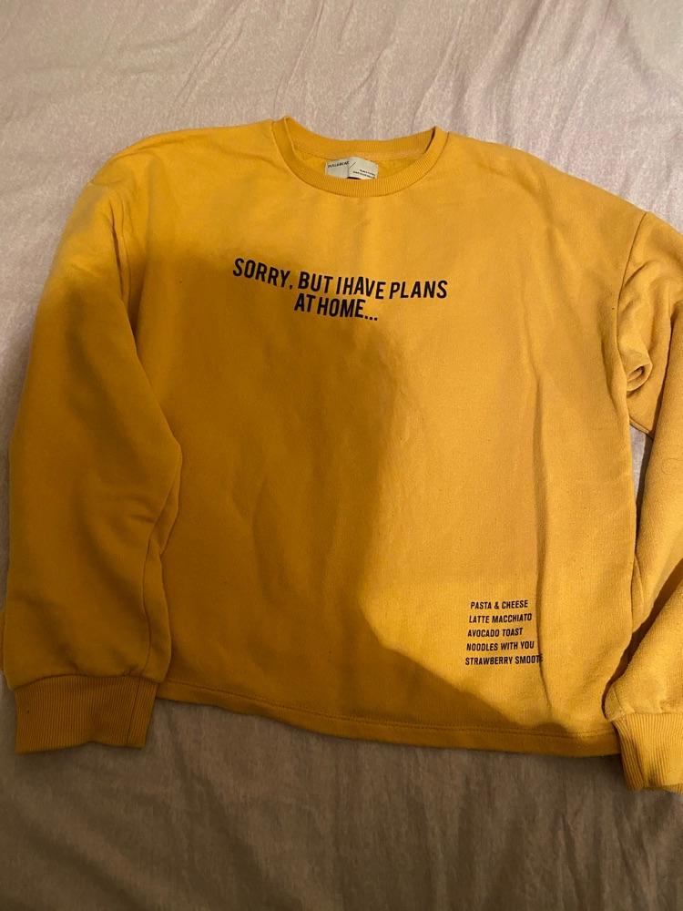 Sweatshirt pull and bear jaune