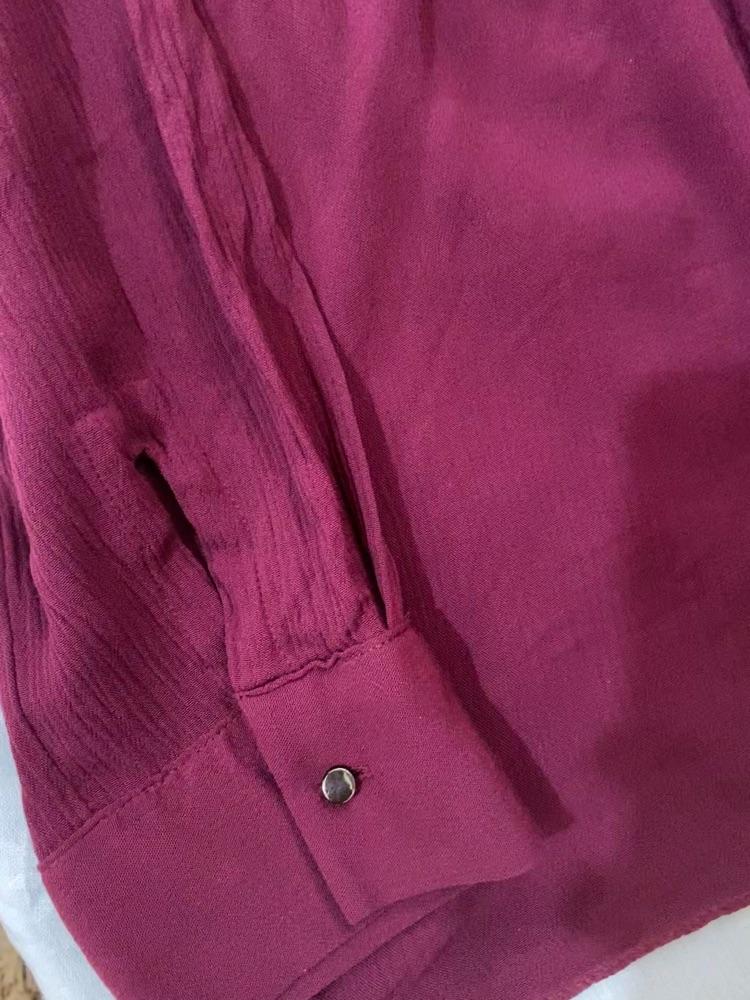 Chemise rouge bordeau longue taille 44