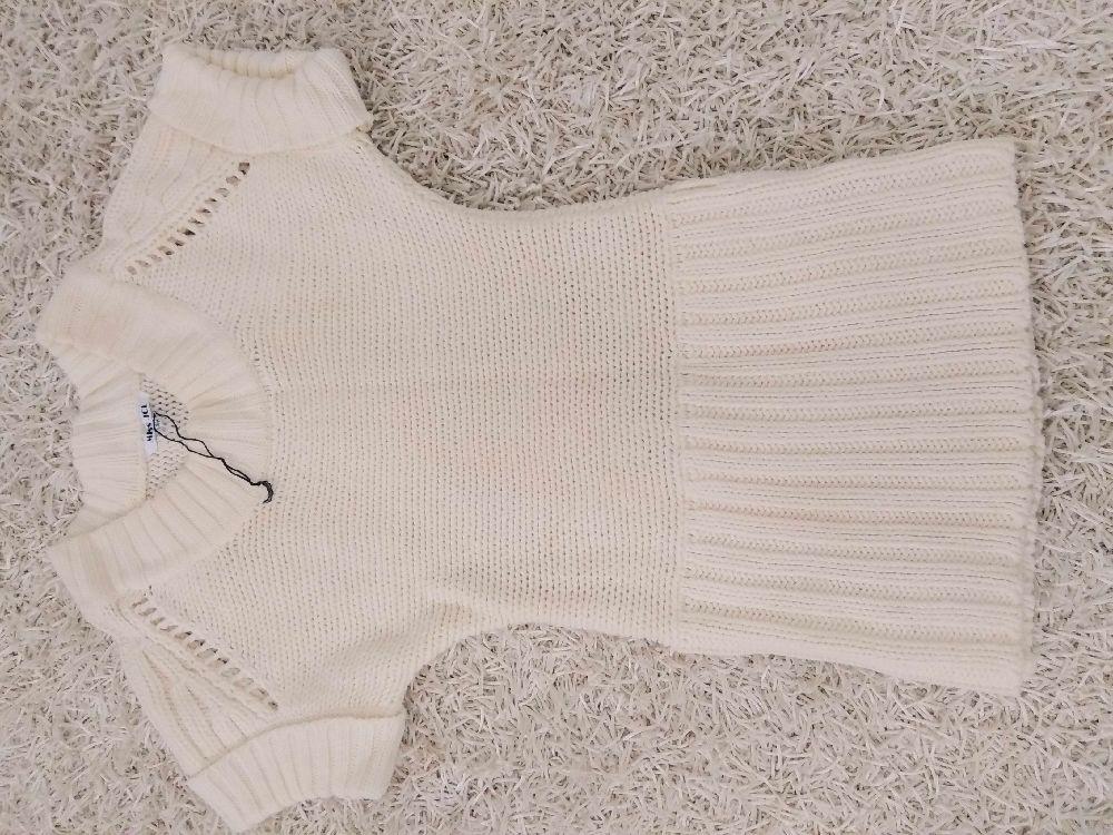 Pull en laine beige S/M