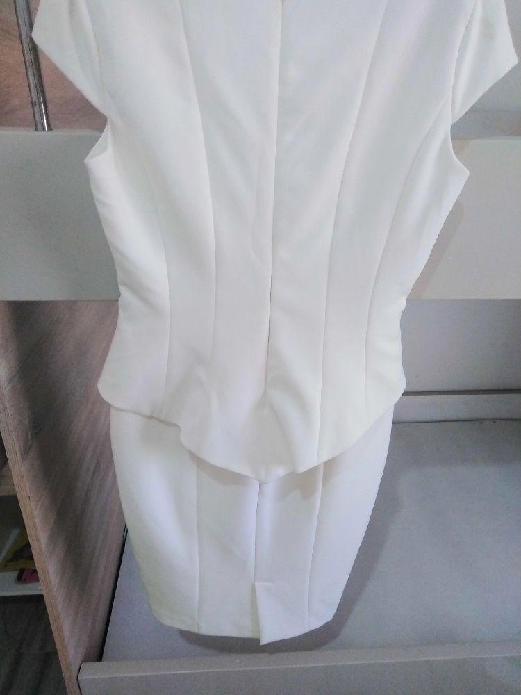 Robe zara blanc cassé